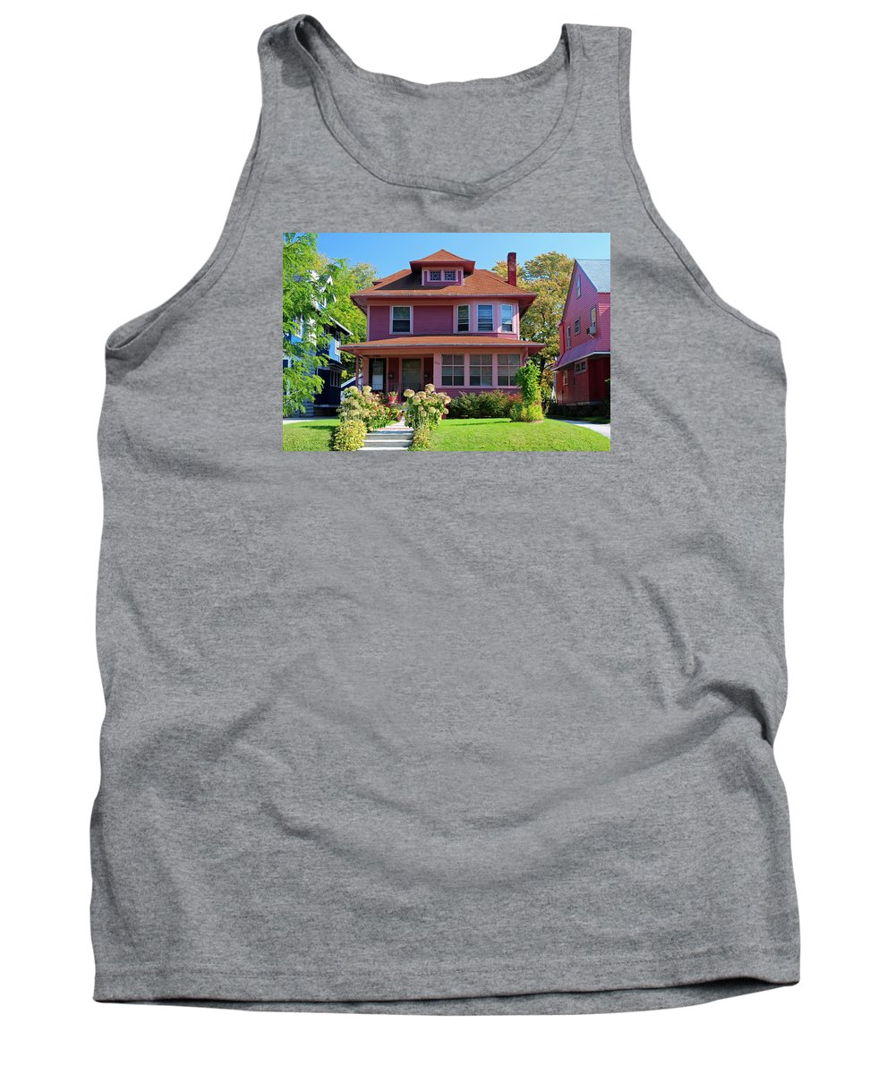 Old West End Tank Top featuring the photograph Old West End Pink 7 by Michiale Schneider