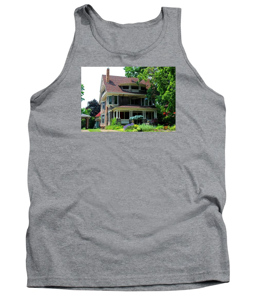 Old West End Tank Top featuring the photograph Old West End Purple 4 by Michiale Schneider