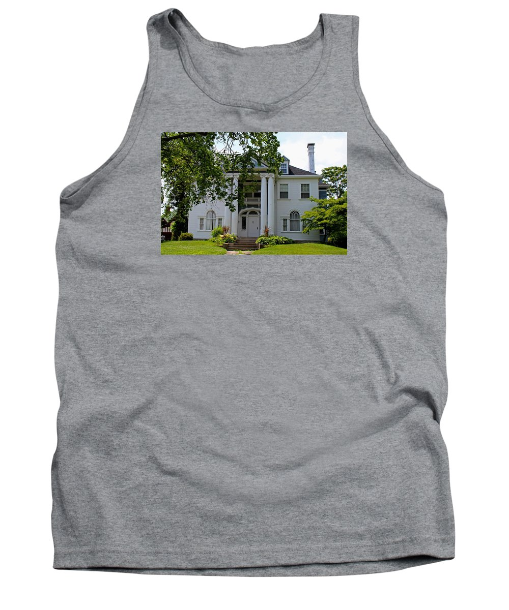 Old West End Tank Top featuring the photograph Old West End White 1 by Michiale Schneider
