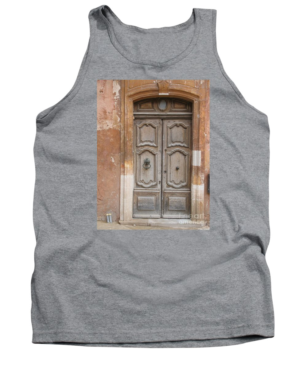 Door Tank Top featuring the photograph Old Wood Door - France by Christiane Schulze Art And Photography