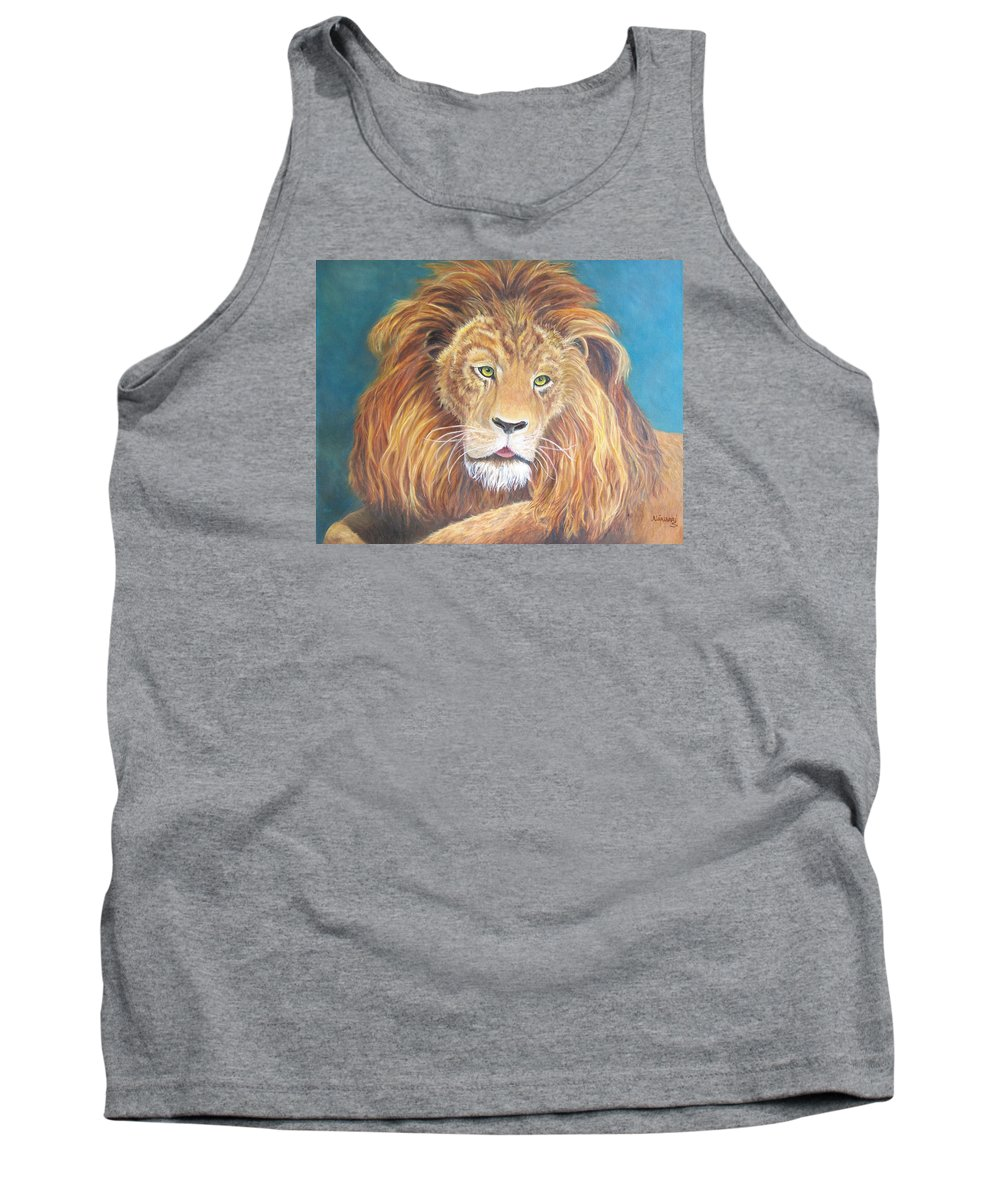 Lion Tank Top featuring the painting Old World Nobility by Alina Martinez-beatriz