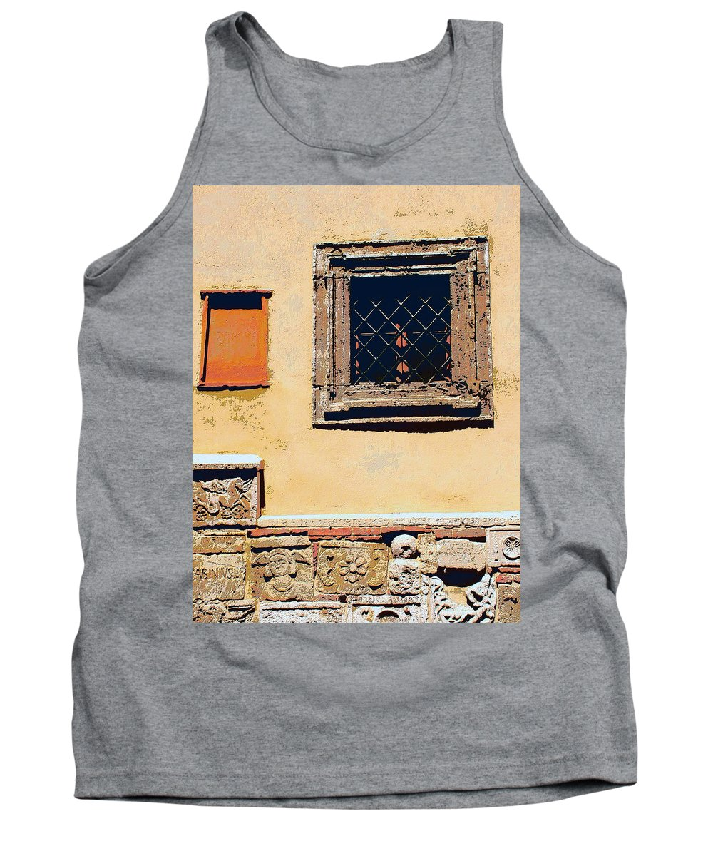 Omerta Tank Top featuring the mixed media Omerta by Dominic Piperata