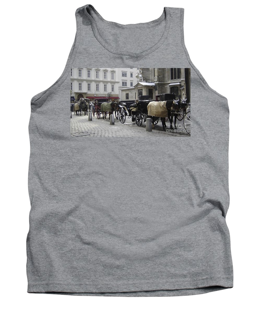 Horses Tank Top featuring the photograph On Call by Mary Rogers