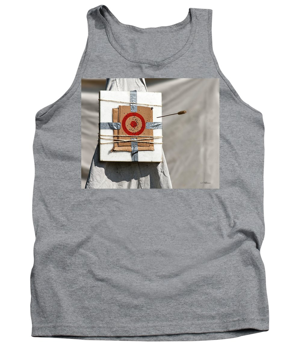 Blowgun Tank Top featuring the photograph On Target by Christopher Holmes