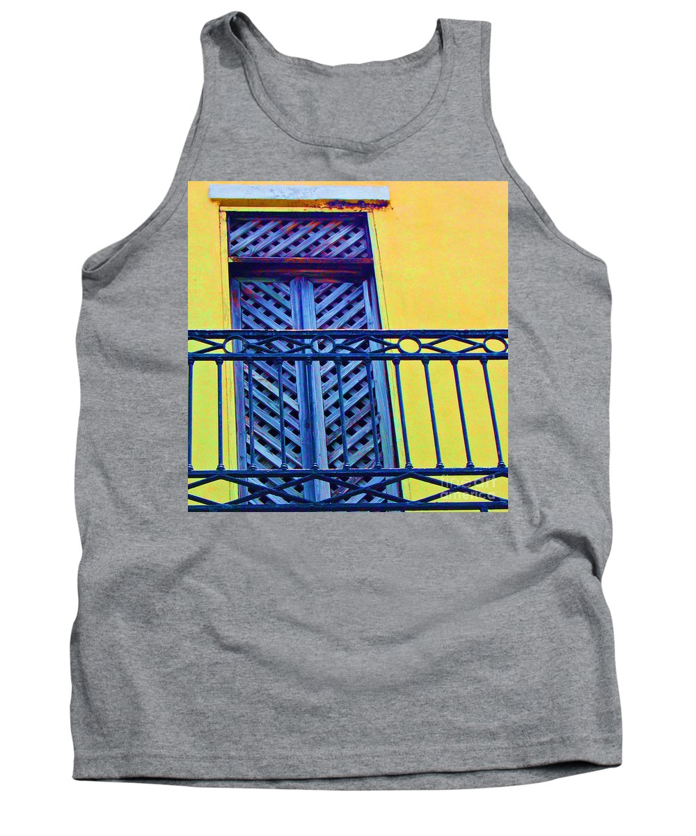 Balcony Tank Top featuring the photograph On The Balcony by Debbi Granruth