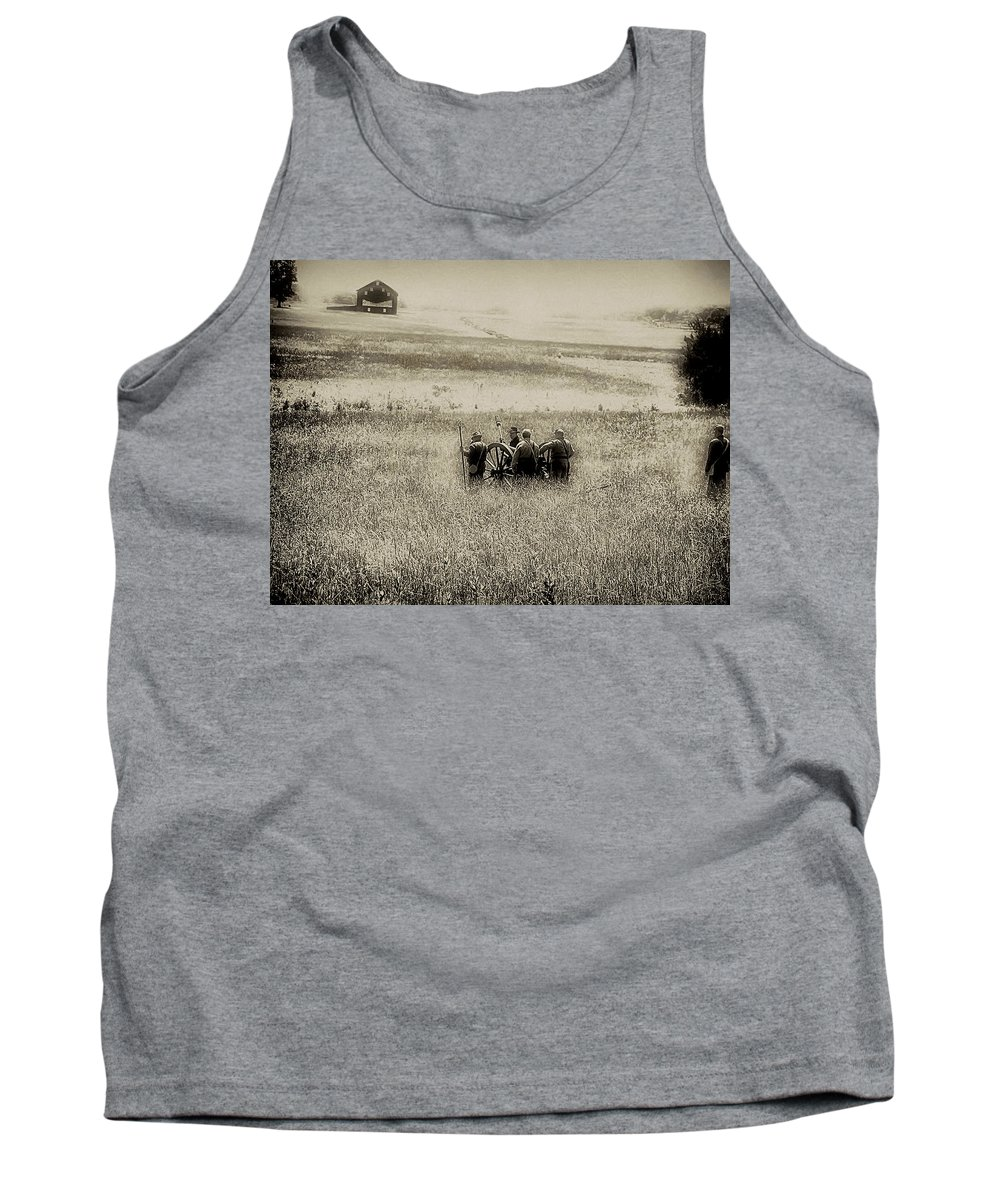 Gettysburg Tank Top featuring the photograph On The Battlefield - Gettysburg by Bill Cannon