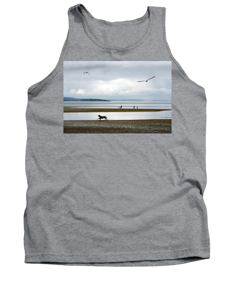 Beach Tank Top featuring the photograph On The Beach by Mal Bray