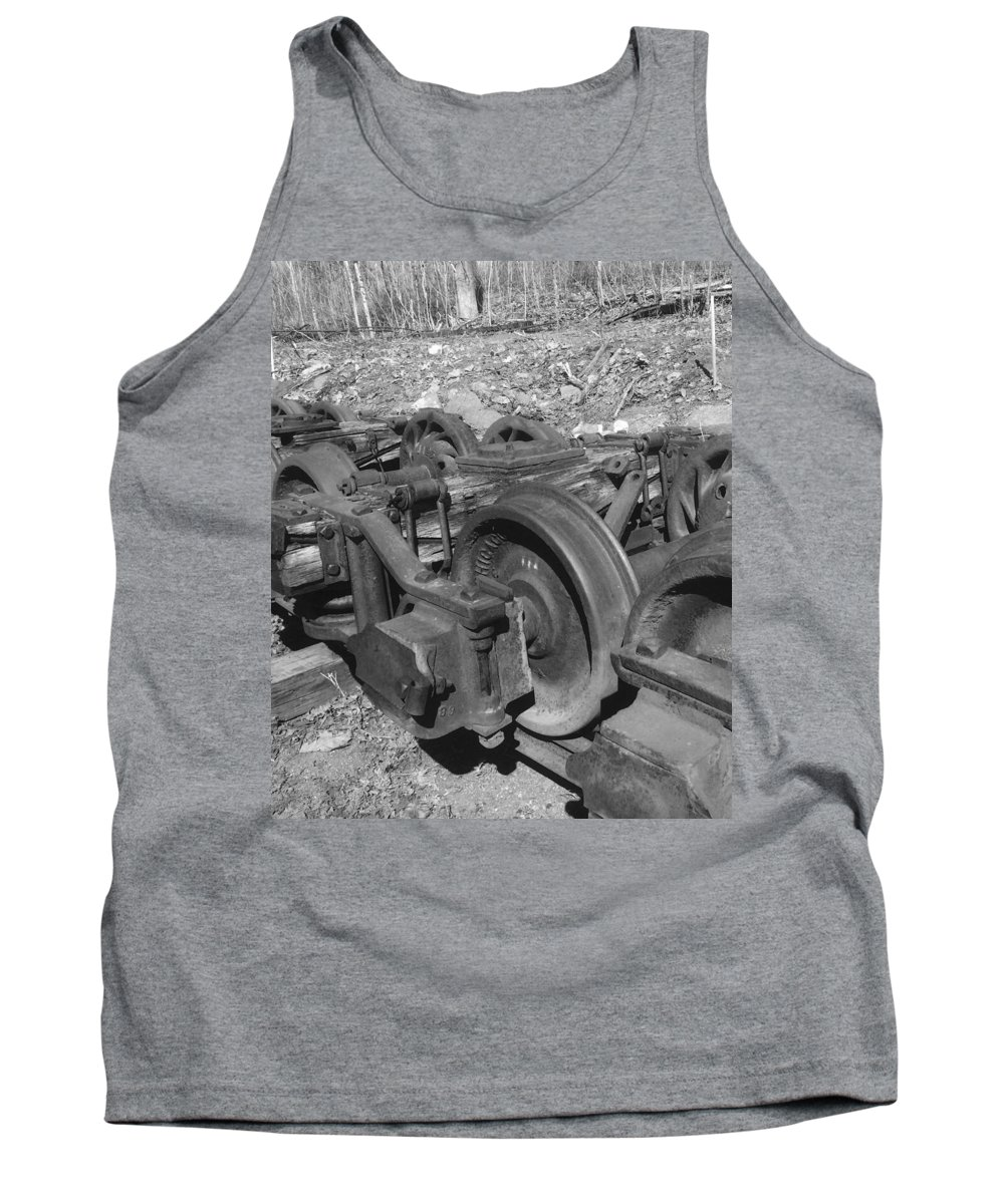 Railroad Tank Top featuring the photograph On The Quincey Rails by Scott Wendt Tom Wierciak