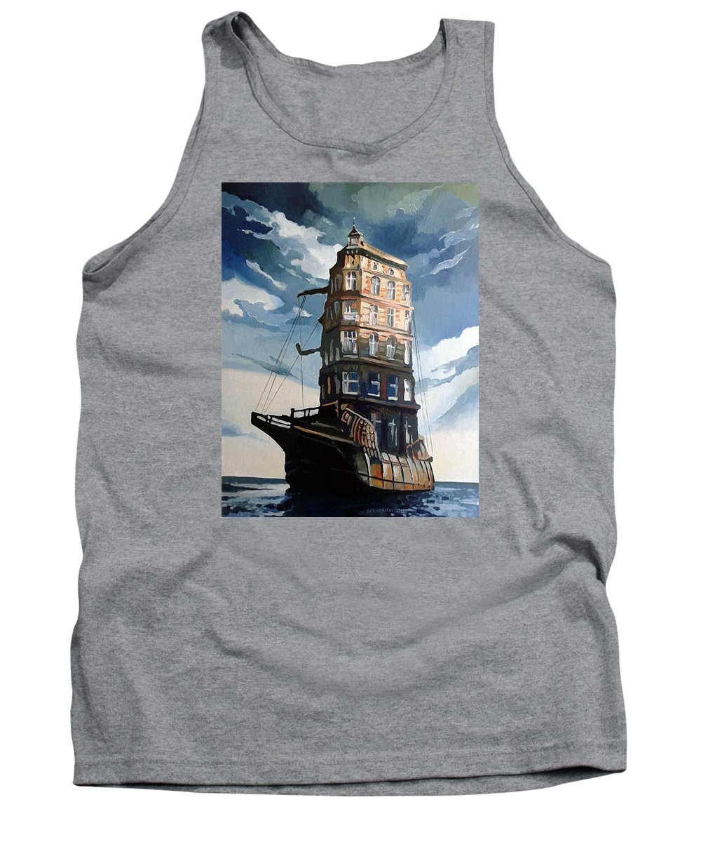 On The Way Tank Top featuring the painting On The Way by Gregor Ziolkowski