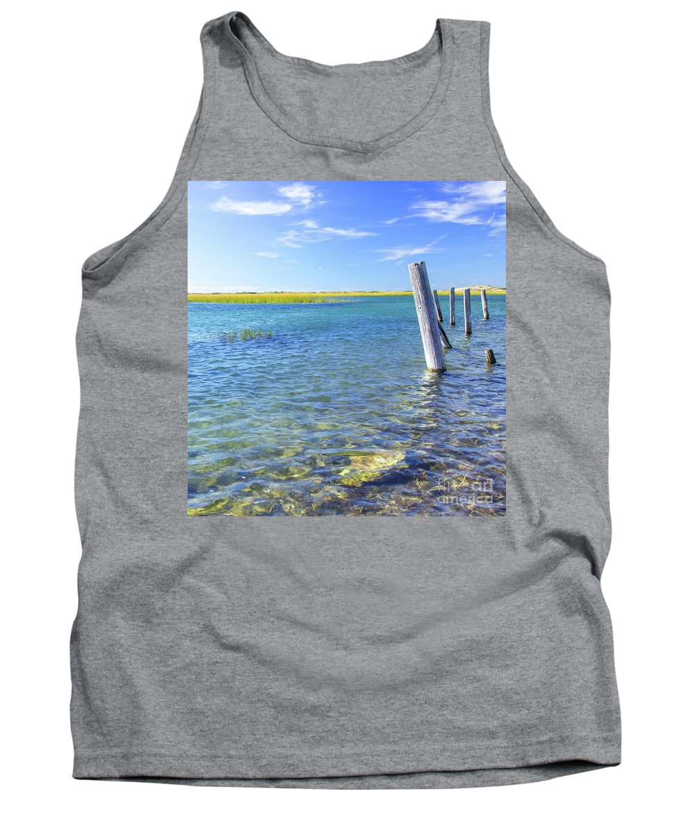 Water Tank Top featuring the photograph Once Upon A Pier by Kris Hiemstra