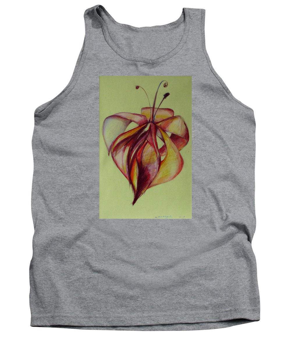 Flower Tank Top featuring the painting One Flower by Cristina Rettegi