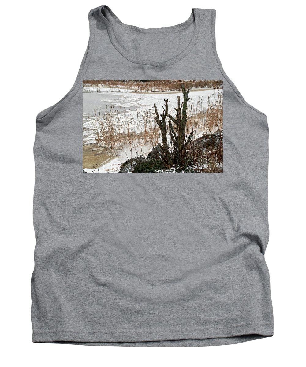 Rowan Tank Top featuring the photograph Onshore 2 by Esko Lindell