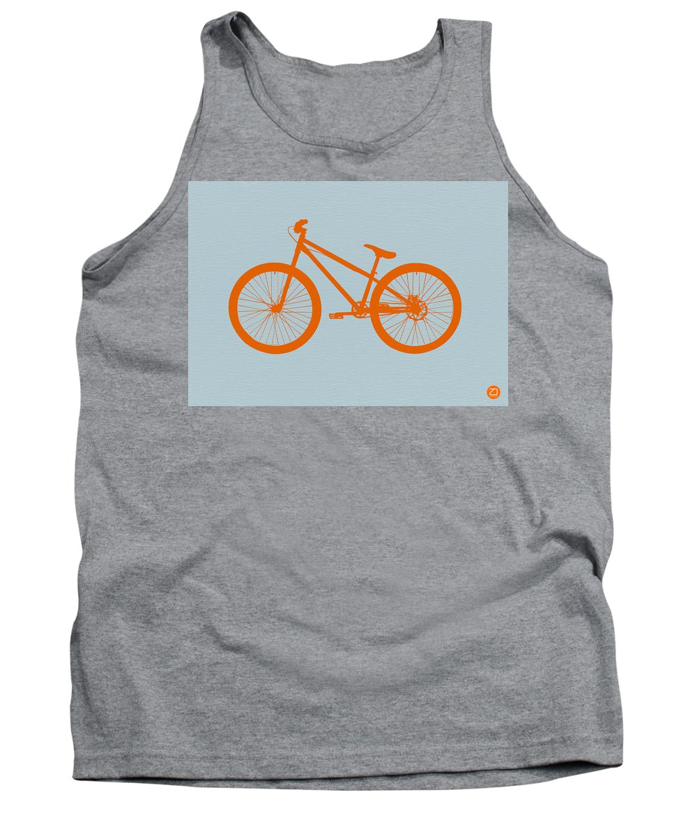 Bicycle Tank Top featuring the digital art Orange Bicycle by Naxart Studio