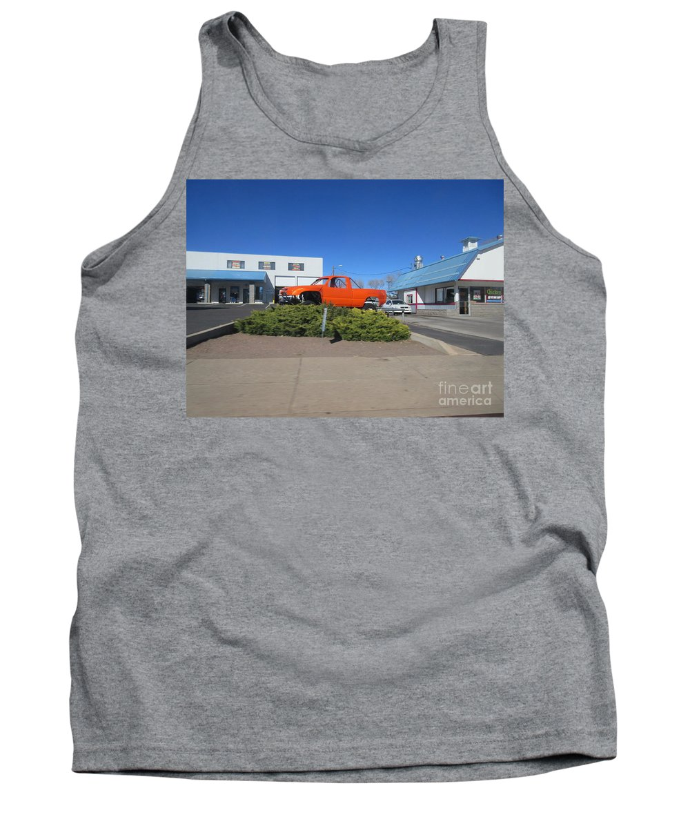 Orange Tank Top featuring the photograph Orange Truck by Frederick Holiday
