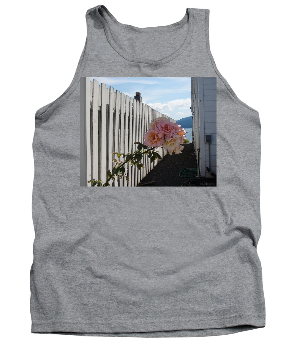 Rose Tank Top featuring the photograph Orcas Island Rose by Tim Nyberg