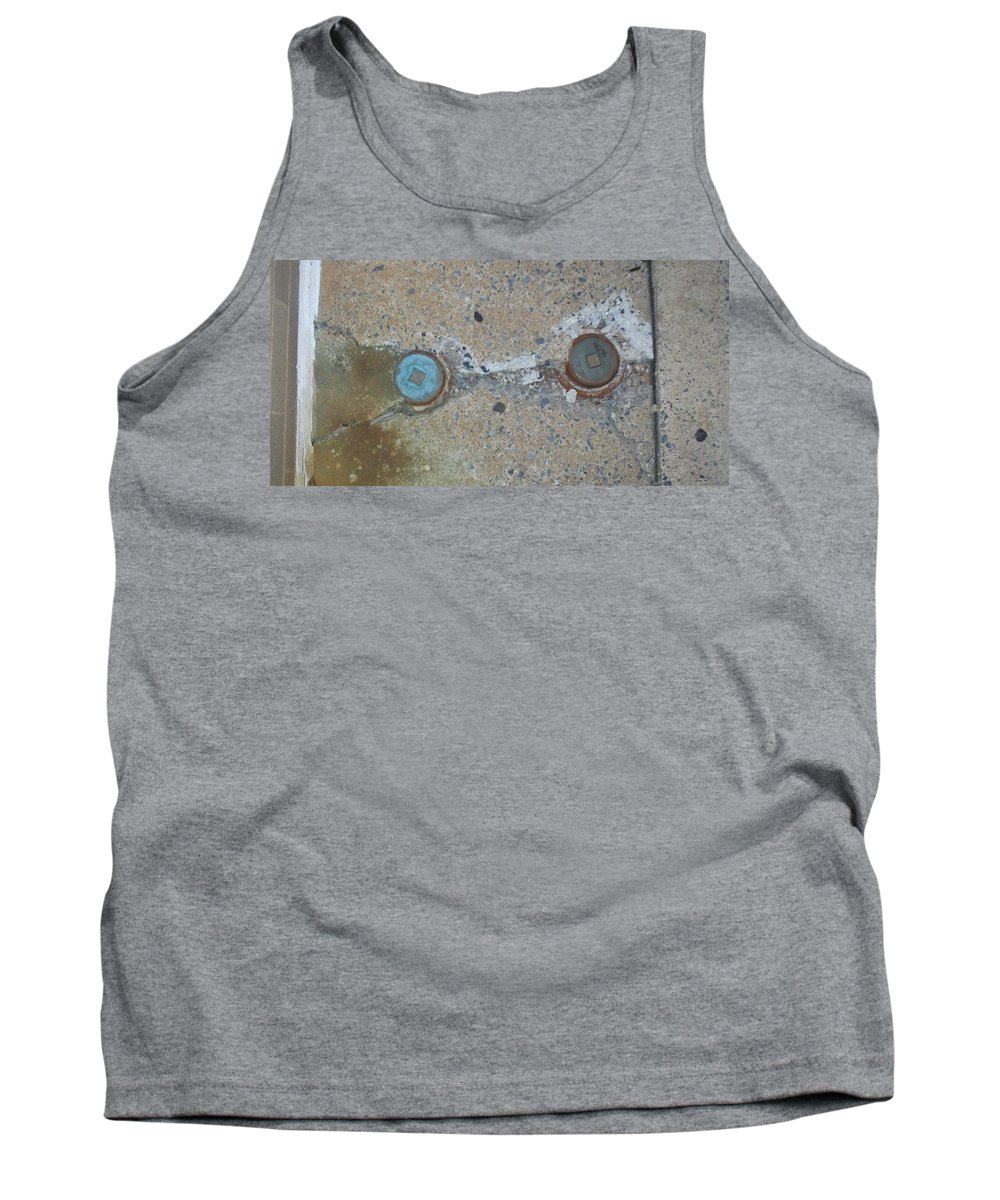 Photograph Tank Top featuring the photograph Original Damaged Pipes by Thomas Valentine