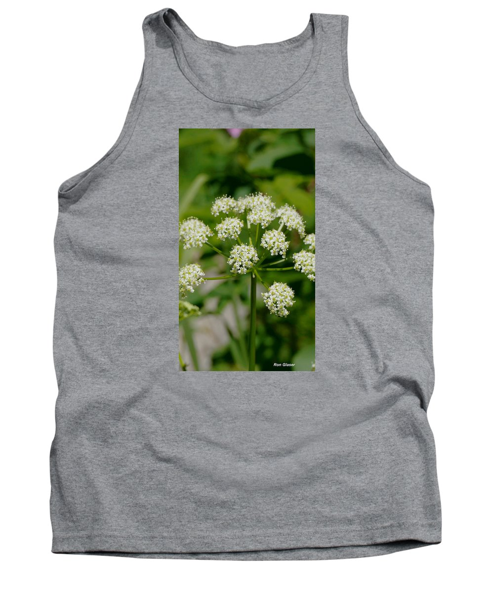 Ron Glaser Tank Top featuring the photograph Osha Flowers 1 by Ron Glaser