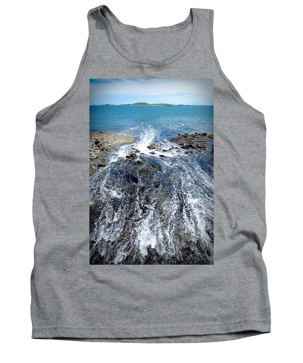 Ocean Tank Top featuring the photograph Out To Sea by Greg Fortier