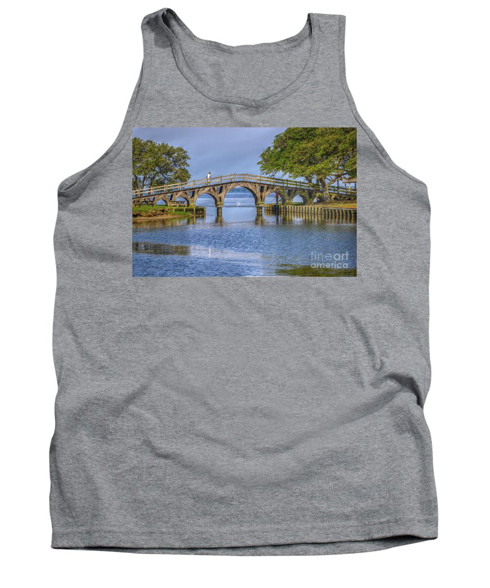 Summer Tank Top featuring the photograph Outer Banks Whalehead Club Bridge by Randy Steele