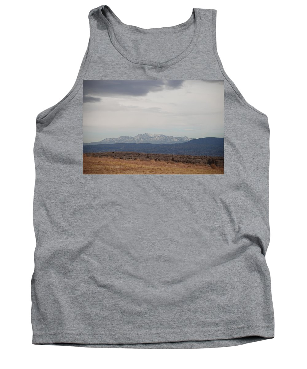 Mountains Tank Top featuring the photograph Overcast On The Sandias by Rob Hans