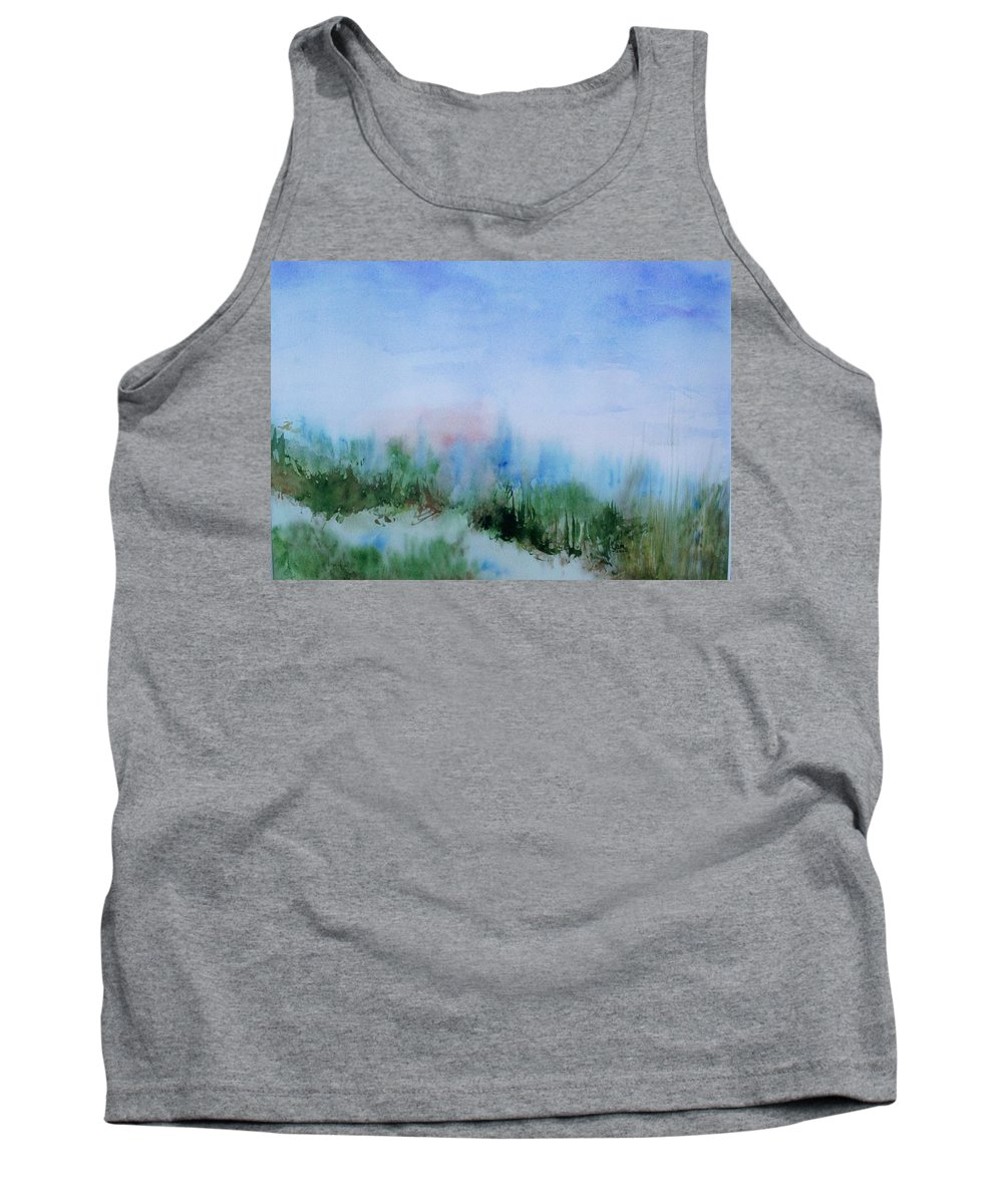 Landscape Tank Top featuring the painting Overlook by Suzanne Udell Levinger