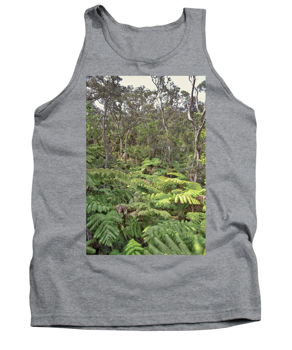 Thurstons Lava Tube Tank Top featuring the photograph Overlooking The Rainforest by Susan Rissi Tregoning