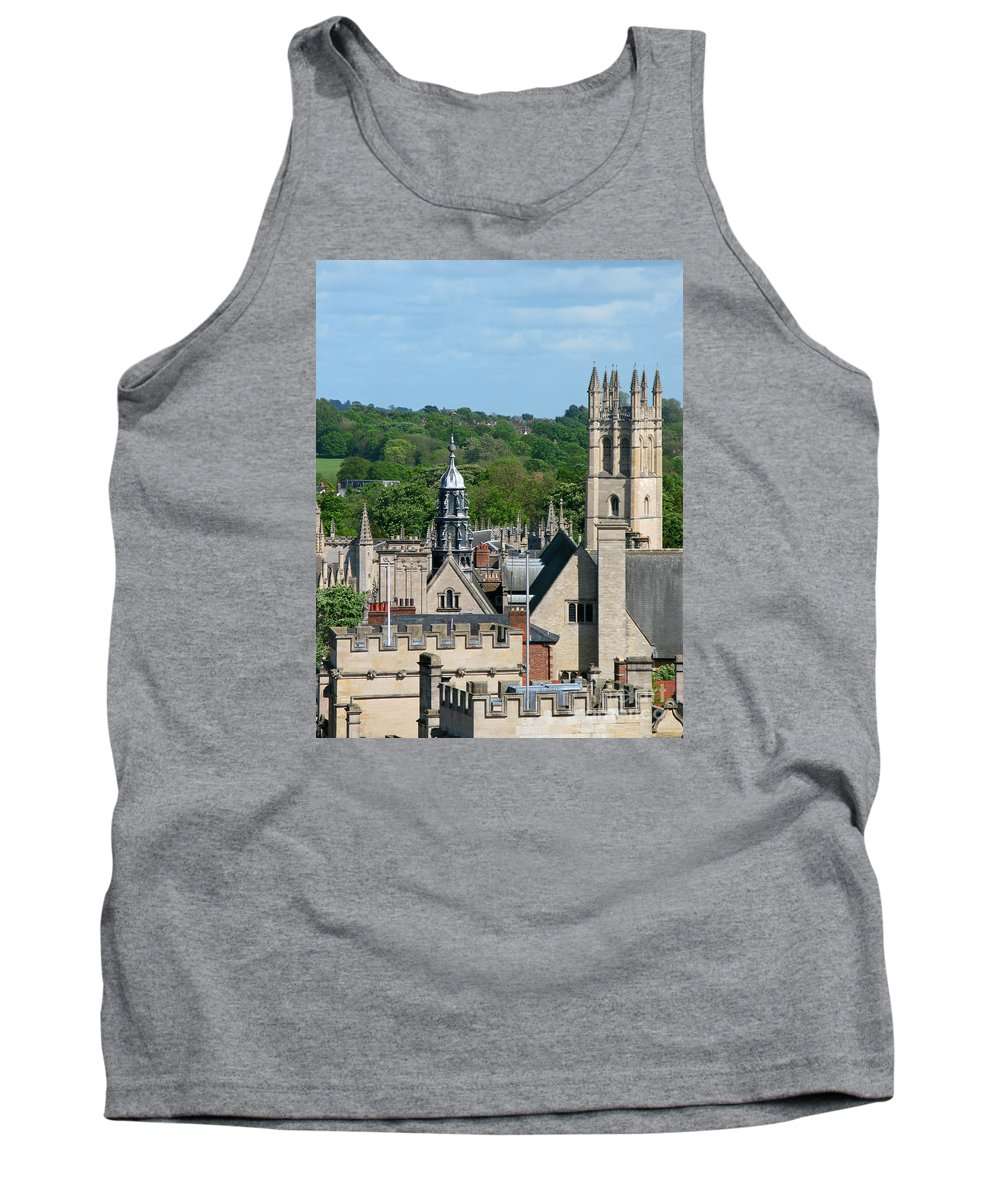 Oxford Tank Top featuring the photograph Oxford Tower View by Ann Horn