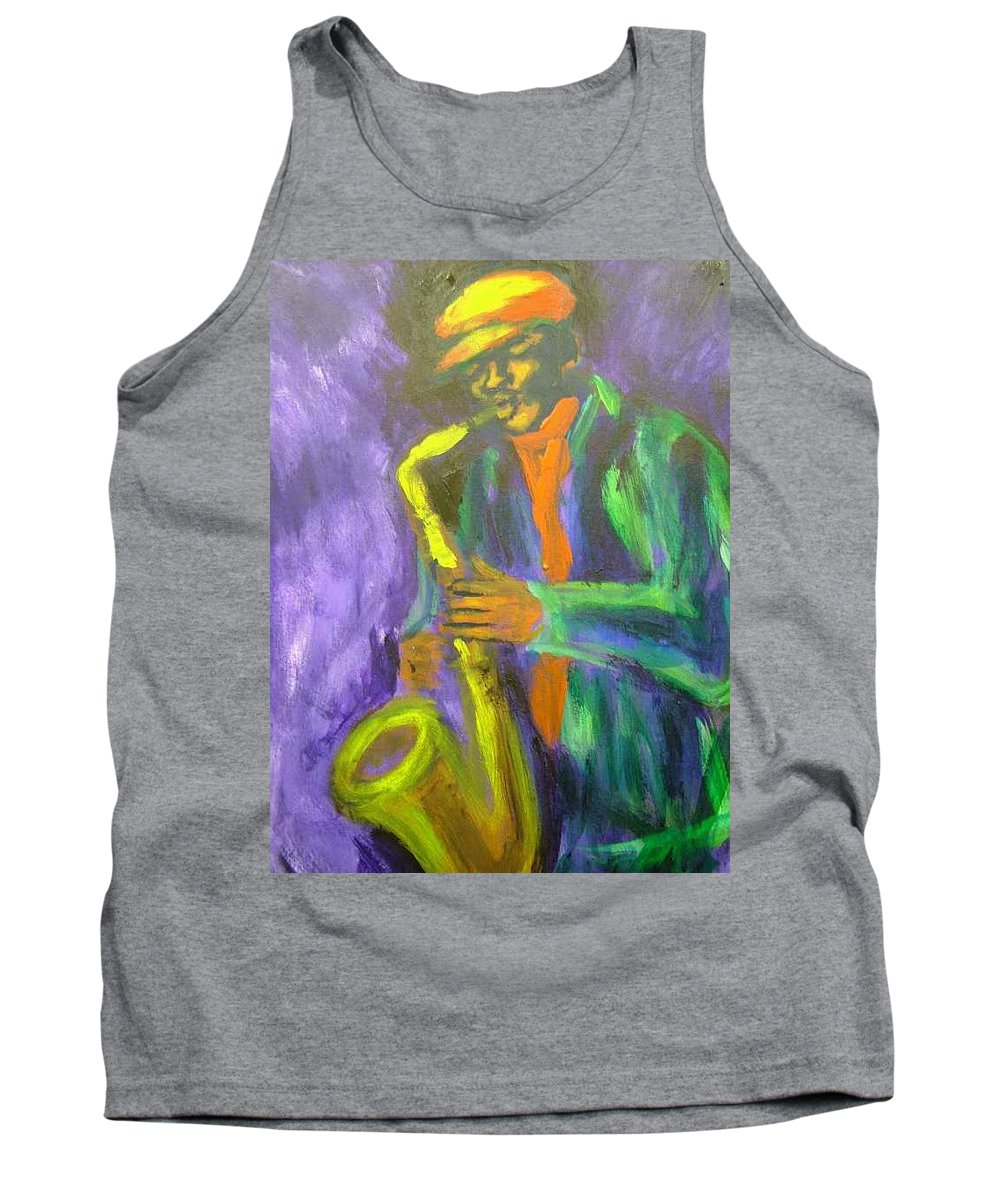 Painting Tank Top featuring the painting The M by Jan Gilmore