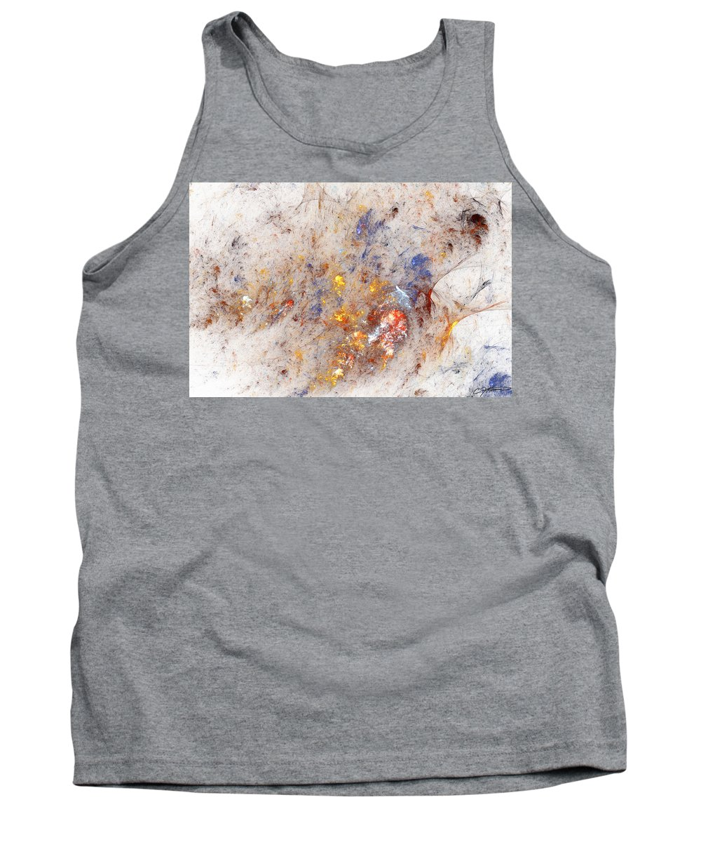Abstract Tank Top featuring the digital art Paean To Pollack by Casey Kotas