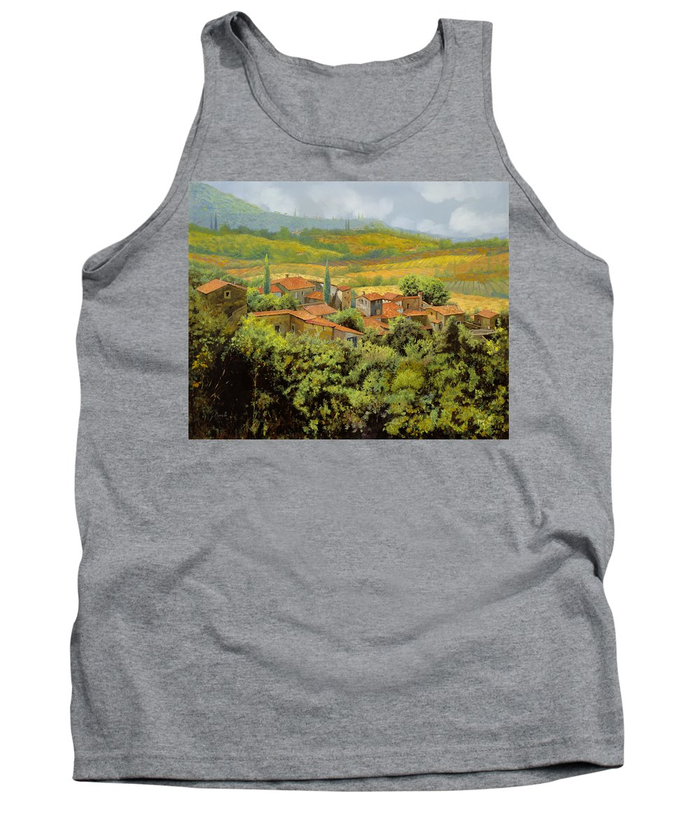 Tuscany Tank Top featuring the painting Paesaggio Toscano by Guido Borelli