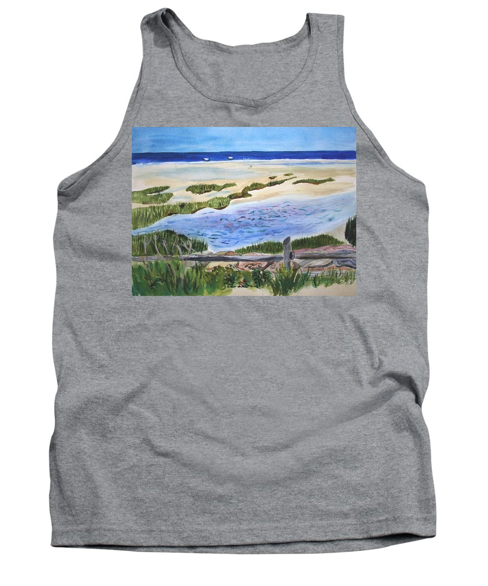Paines Creek Tank Top featuring the painting Paines Creek by Donna Walsh