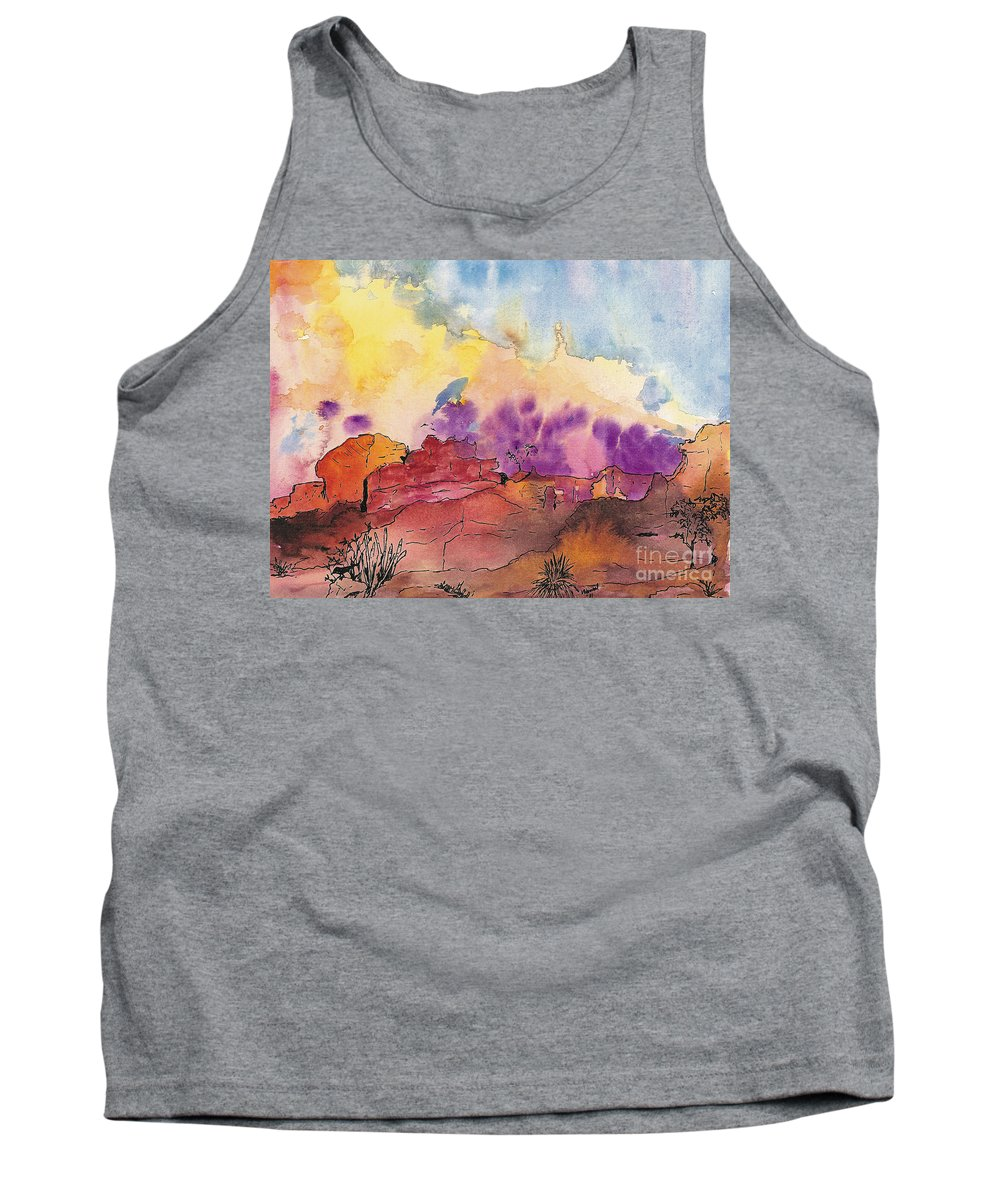 Desert Tank Top featuring the painting Painted Desert by Vicki Housel