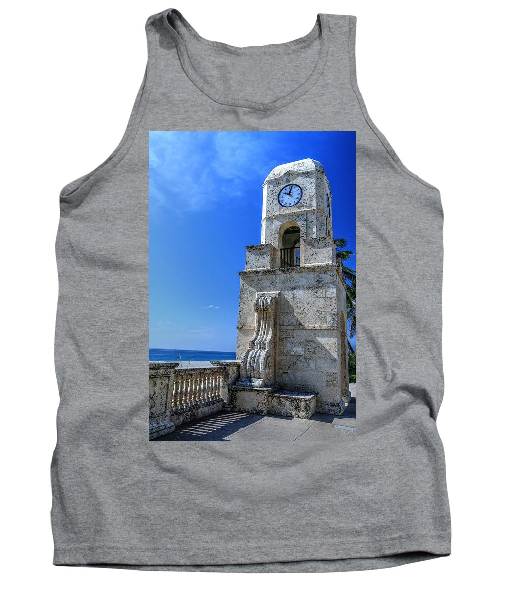 Carol R Montoya Tank Top featuring the photograph Palm Beach Clock Tower by Carol Montoya