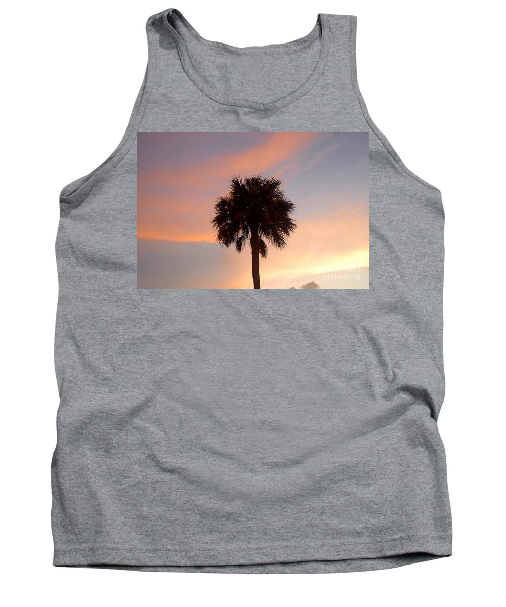 Palm Tree Tank Top featuring the photograph Palm Sky by David Lee Thompson