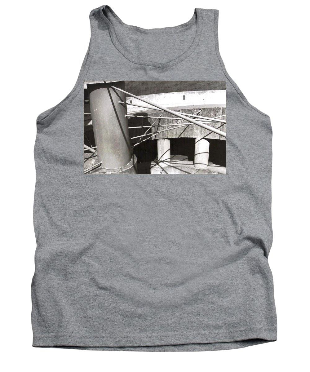 Black And White Photograph Tank Top featuring the photograph Parking Garage by Thomas Valentine