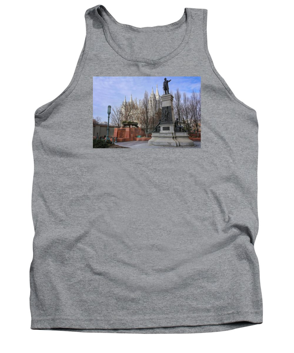 Mormon Tank Top featuring the photograph Part Of Temple Square by Buck Buchanan