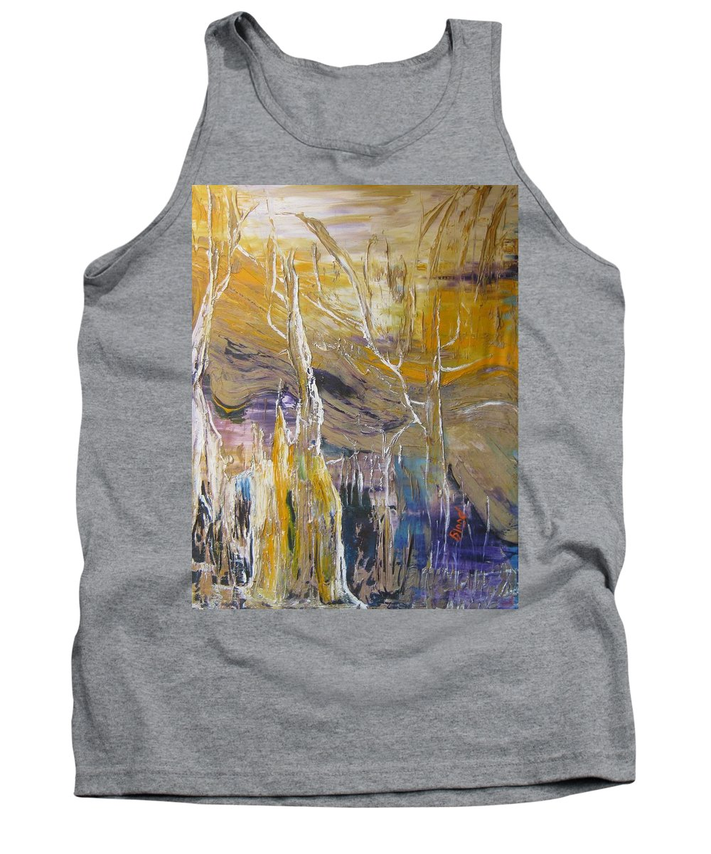 Swamp Tank Top featuring the painting Passing Through by Peggy Blood