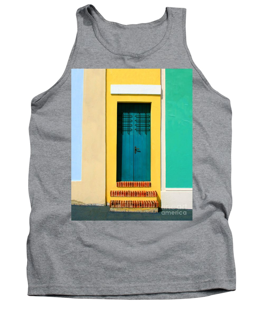 Door Tank Top featuring the photograph Pastel Doorway by Perry Webster