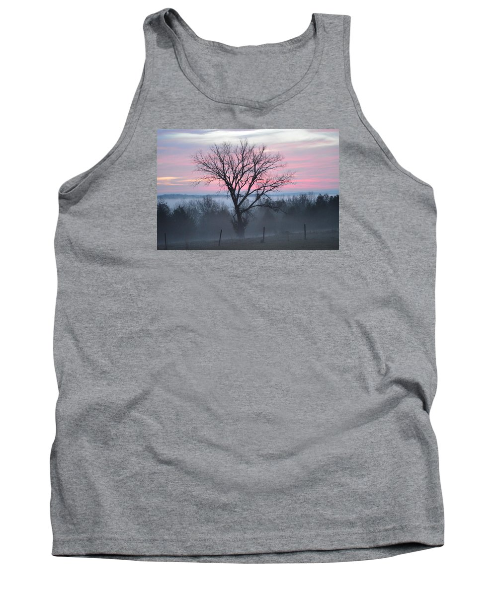 Sunrise Tank Top featuring the photograph Pastel Fog by Cathy Christian