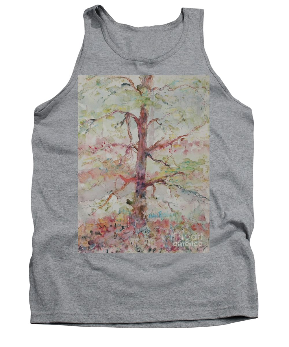 Forest Tank Top featuring the painting Pastel Forest by Nadine Rippelmeyer