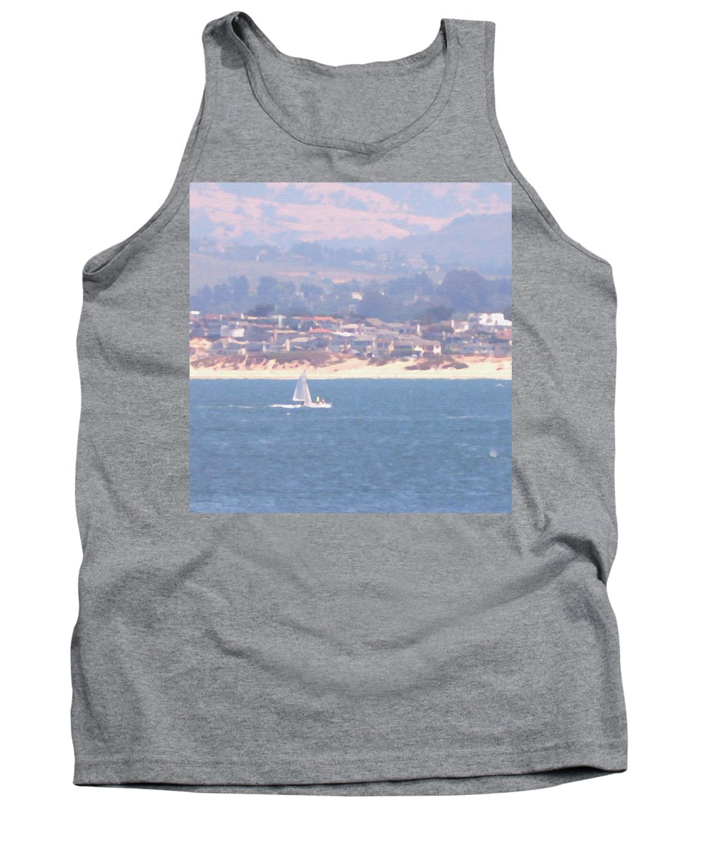 Sailing Tank Top featuring the photograph Pastel Sail by Pharris Art
