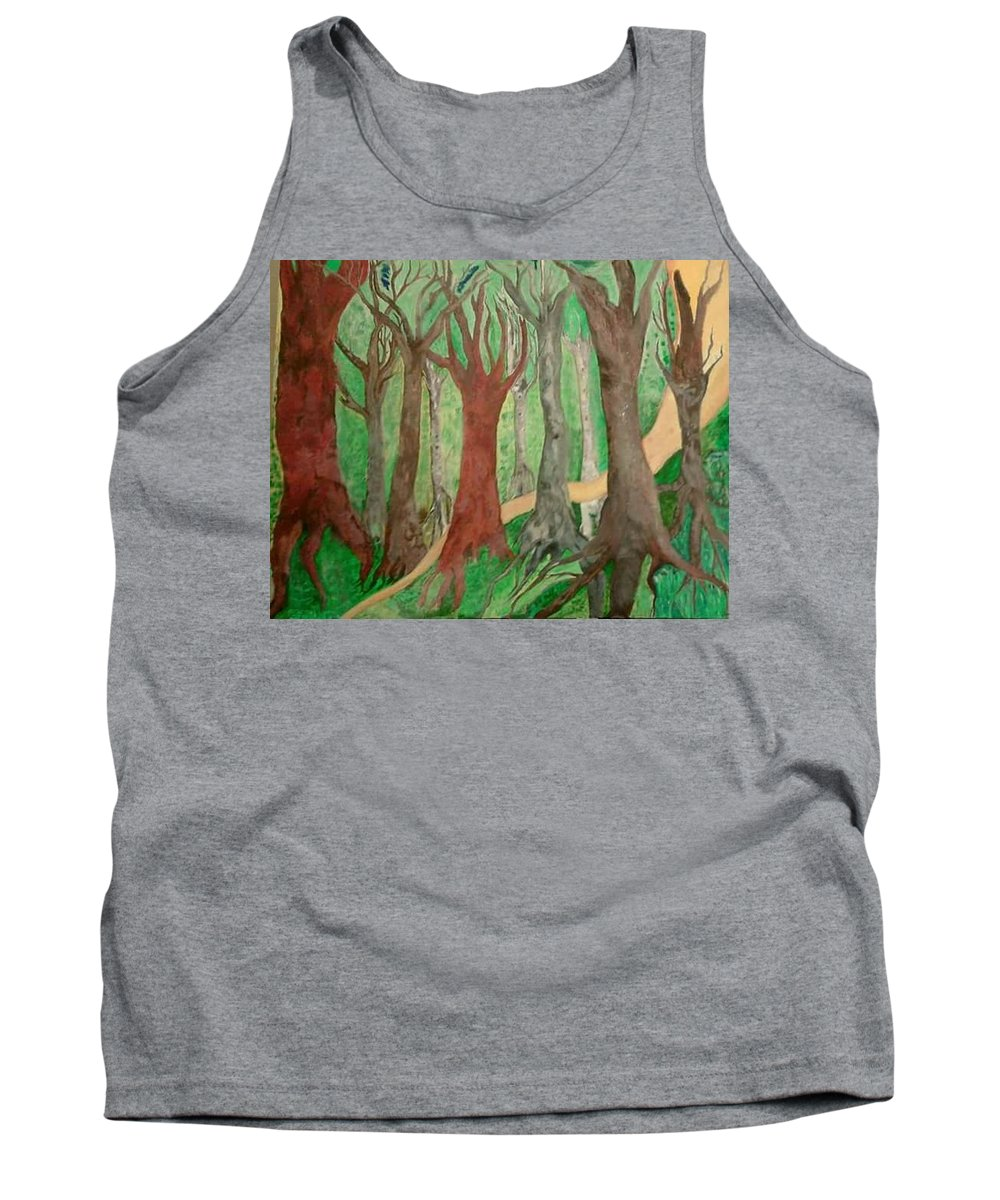 Trees Tank Top featuring the painting Path by Liz Chapman
