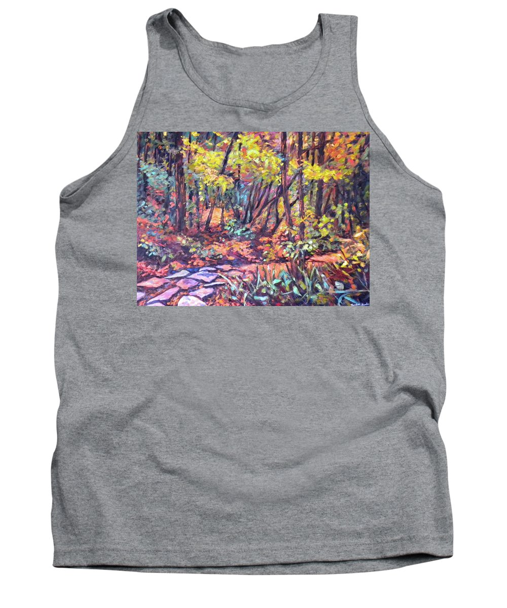 Landscape Tank Top featuring the painting Path Near Pandapas by Kendall Kessler
