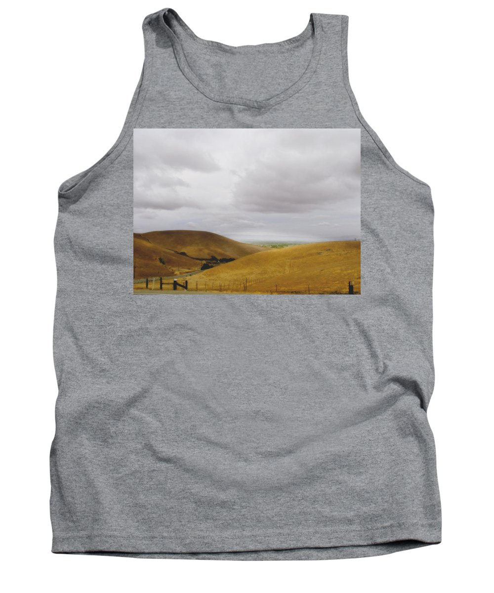 Landscape Tank Top featuring the photograph Patterson Pass Road by Karen W Meyer