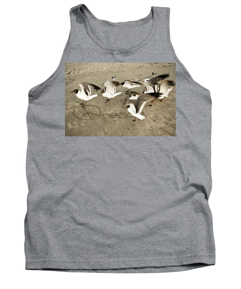 Bird Tank Top featuring the photograph Peace Dance by Marilyn Hunt