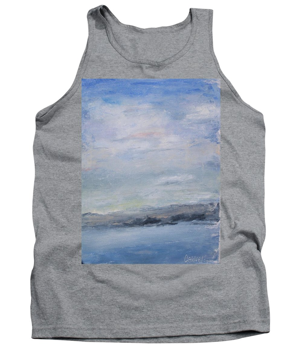 Sky Tank Top featuring the painting Peace by Patricia Caldwell