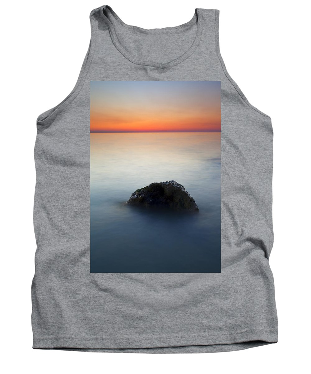 Rock Tank Top featuring the photograph Peaceful Isolation by Mike Dawson