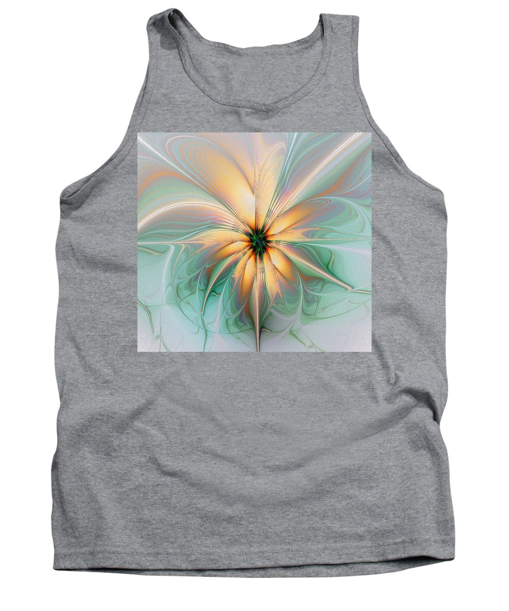 Digital Art Tank Top featuring the digital art Peach Allure by Amanda Moore