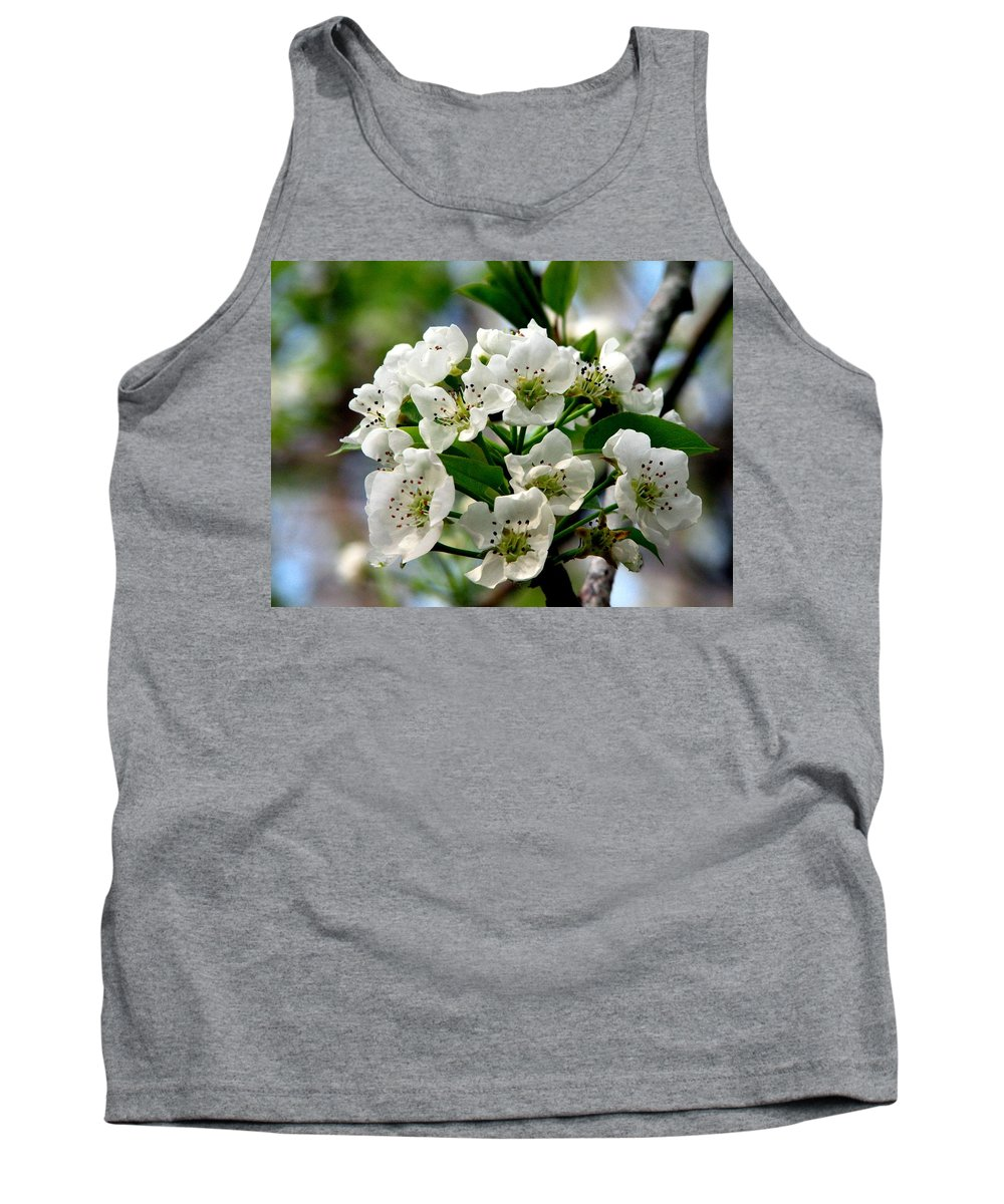 Pear Tree Blossum Tank Top featuring the photograph Pear Tree Blossoms 1 by J M Farris Photography