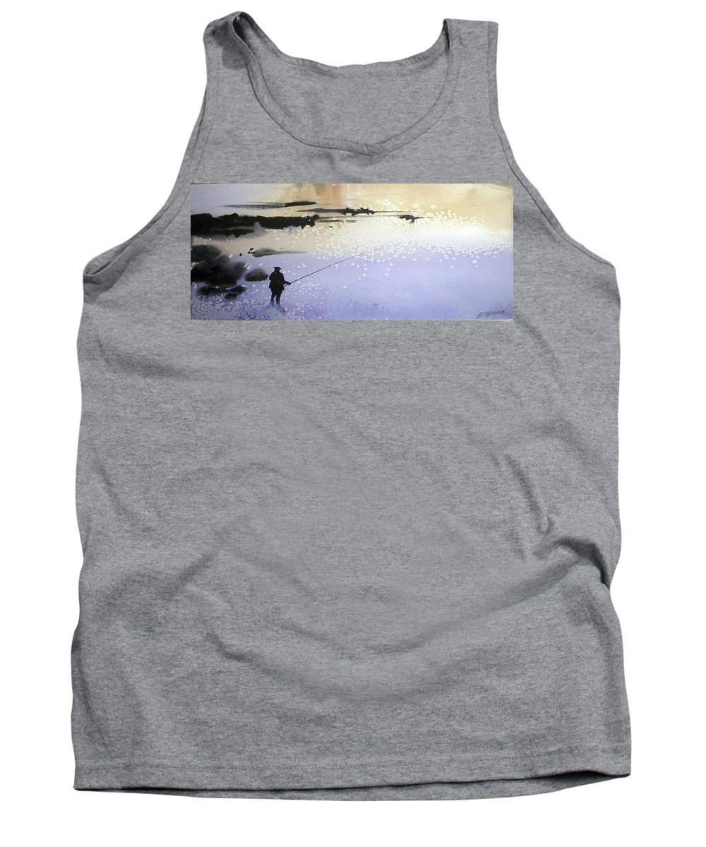 Water Outdoors Nature Travel Holidays Landscape Tank Top featuring the painting Peche by Ed Heaton